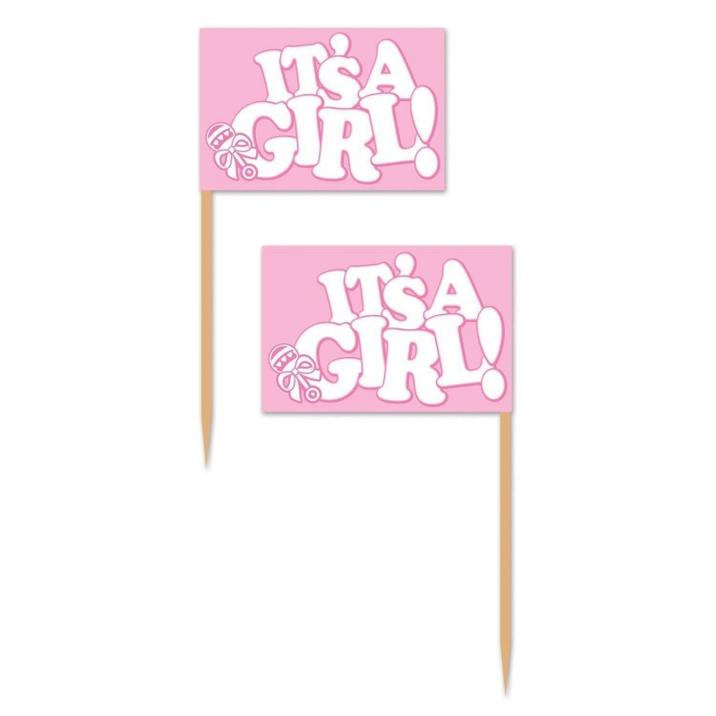 It's a Girl Cupcake Picks (Pack of 50)
