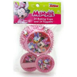 Minnie Mouse Baking Cups & Cupcake Picks (Set of 24)