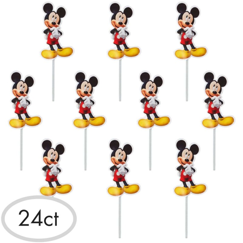 Mickey Mouse Cupcake Picks (Pack of 24)