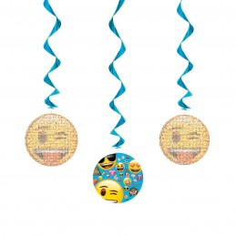 Emoji Swirl Decorations (Set of 3)