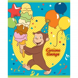 Curious George Loot Bags (Pack of 8) | Curious George Party Supplies