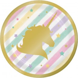 Sparkling Unicorn Small Plates (Pack of 8)