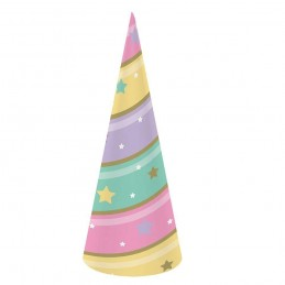 Sparkling Unicorn Party Hats (Pack of 8)