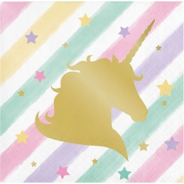 Sparkling Unicorn Small Napkins (Pack of 16)