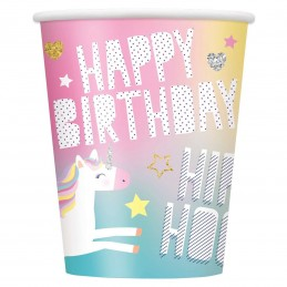 Rainbow Unicorn Paper Cups (Pack of 8)