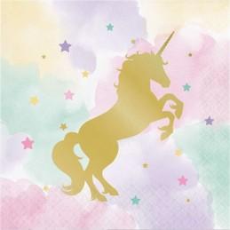Sparkling Unicorn Large Napkins (Pack of 16)