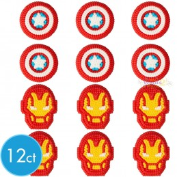 Avengers Icing Decorations (Set of 12)
