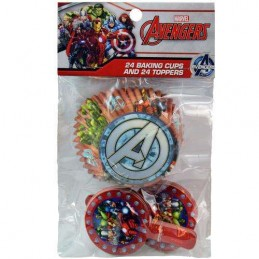 Avengers Baking Cups & Cupcake Picks Set (Pack of 48)