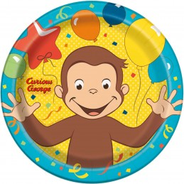 Curious George Large Plates (Pack of 8)