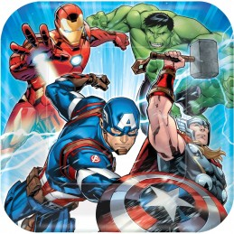 Avengers Epic Large Plates (Pack of 8)