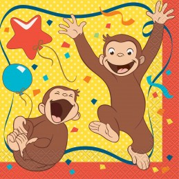 Curious George Large Napkins (Pack of 16)