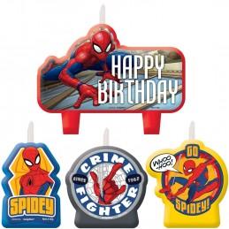 Spiderman Webbed Wonder Candles (Set of 4) | Spiderman