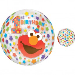 Elmo 1st Birthday See Thru Orbz Balloon
