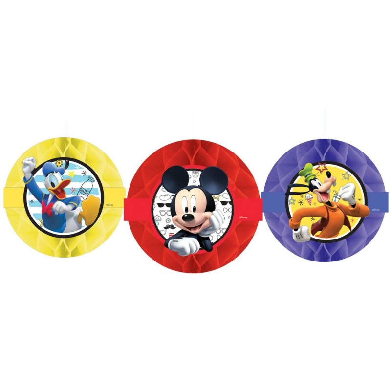Mickey Mouse Honeycomb Decorations (Set of 3)