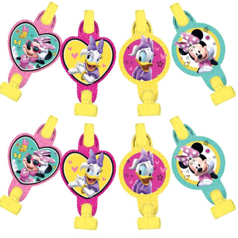 Minnie Mouse Party Blowers (Pack of 8)