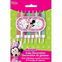 Minnie Mouse Cake Decoration Candles (Set of 9)