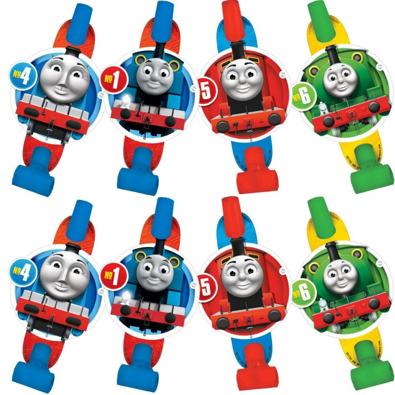 Thomas the Tank Engine Birthday Party Blowers (Pack of 8)