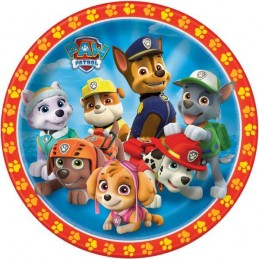 Paw Patrol Large Plates (Pack of 8)