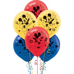 Mickey Mouse Latex Balloons (Pack of 6)