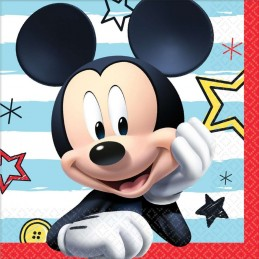 Mickey Mouse On The Go Small Napkins (Pack of 16)