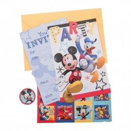 Mickey Mouse On The Go Invitations (Pack of 8) | Mickey Mouse Party Supplies