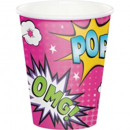 Super Hero Girl Cups (Pack of 8)