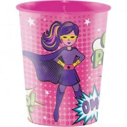 Superhero Girl Large Plastic Cup | Superhero Girl Party Supplies
