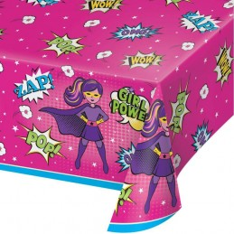 Super Hero Girl Plastic Tablecloth