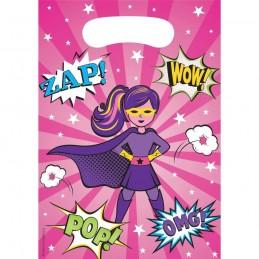Super Hero Girl Loot Bags (Pack of 8)