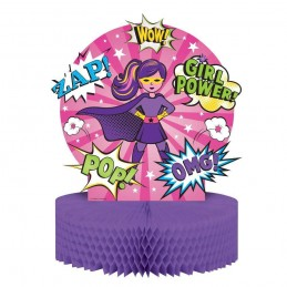 Super Hero Girl Honeycomb Centrepiece