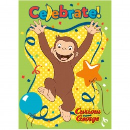 Curious George Party Invitations (Pack of 8)