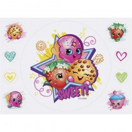 Shopkins Edible Icing Cake Decorations (9 Piece)