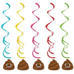 Emoji Poop Swirl Decorations (Set of 5)