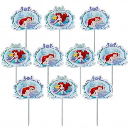 Ariel The Little Mermaid Cupcake Picks (Pack of 24)