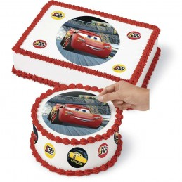 Cars 3 Cake Image Decoration Set