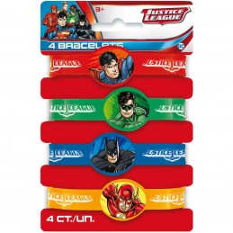Justice League Rubber Wristbands (Pack of 4)