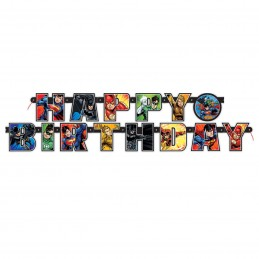 Justice League Birthday Banner | Justice League Party Supplies