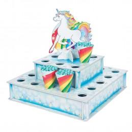 Rainbow Unicorn Treat Stand | Unicorn Party Supplies