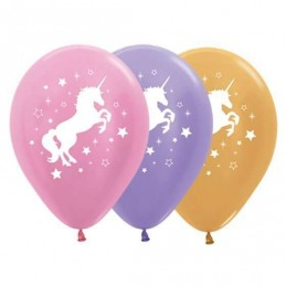 Metallic Unicorn Balloons (Pack of 10)