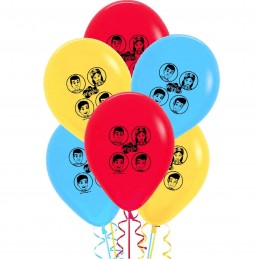 The Wiggles Latex Balloons (Pack of 6)