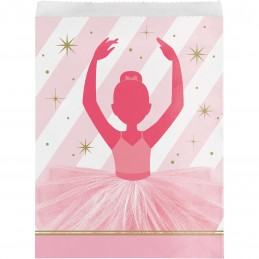 Ballerina Paper Loot Bags (Pack of 8)