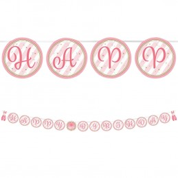 Ballerina Happy Birthday Banner