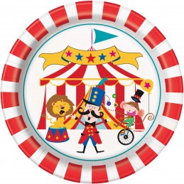 Circus Carnival Small Plates (Pack of 8)