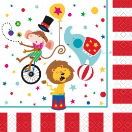 Circus Carnival Small Napkins (Pack of 16)