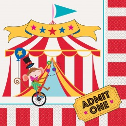 Circus Carnival Large Napkins (Pack of 16)