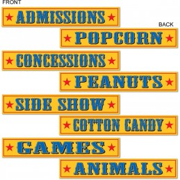 Circus Sign Decorations (Set of 4)