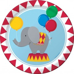 Circus Time Large Plates (Pack of 8)