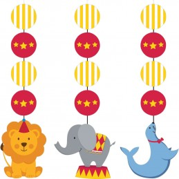 Circus Time Hanging Decorations (Set of 3)