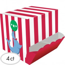Circus Time Treat Boxes (Pack of 4)