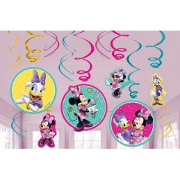Minnie Mouse Happy Helpers Swirl Decorations (Pack of 12)